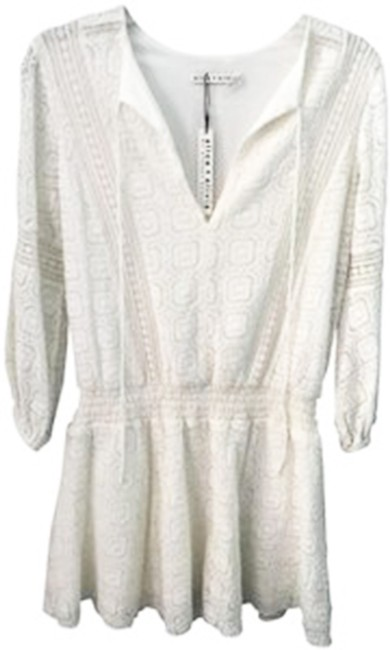 Item - Cream C504590629 Margaux Embroidered Mid-length Short Casual Dress Size 0 (XS)
