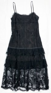 Chanel Cc Lace Tiered Lbd Dress