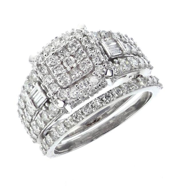 Item - White-gold 14k Set For Her with 1.94ctw Roun Engagement Ring