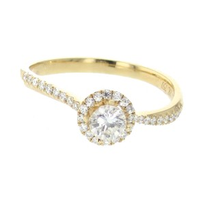 Yellow-gold 18k Semi Mount Setting Fits 0.50ctw Diamonds with 0.1 Engagement Ring