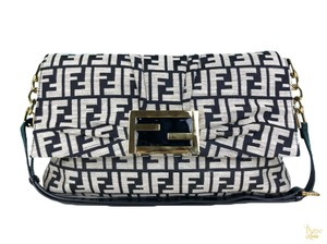 Fendi Canvas Baguette Shoulder Bag