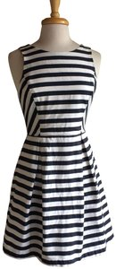Jealous Tomato short dress Sundress Stripe Navy White Knee Length on Tradesy