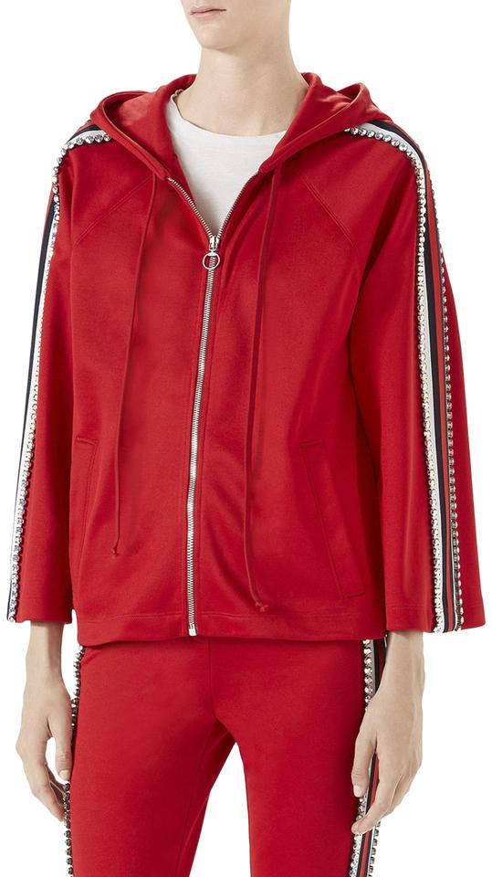 fe953d2a561 Gucci red technical jersey web crystal embellished hoodie jpg 539x960 Gucci  red jacket
