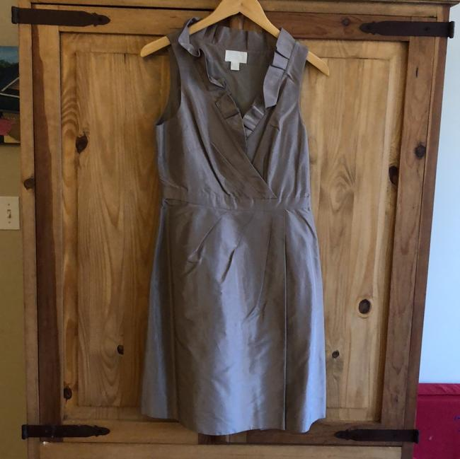Item - Mocha Silk Sleeveless Traditional Bridesmaid/Mob Dress Size 6 (S)