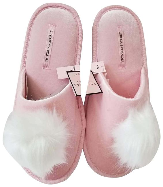 Item - Pink Purple New Velvet Faux Fur Bow Slippers Slipper Super Soft Sandals Size US 6 Regular (M, B)