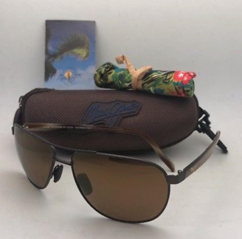 76683c835748 Maui Jim Polarized MAUI JIM Sunglasses CASTLES MJ 728-1M Chocolate Aviator  Image 11. 123456789101112