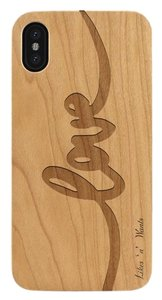 Likes 'n' Wants Love Logo Fashionable Slim Fit Lightweight Wood iPhone Case , 6+/6s+