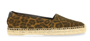 Saint Laurent Espadrille Brown Flats