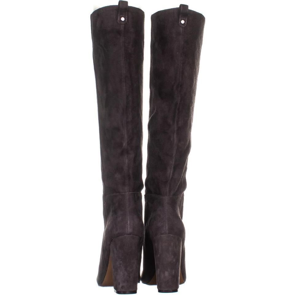 d2ea05291be Steve Madden Grey Tila Knee High 238 Suede Boots Booties Size US 6.5 ...