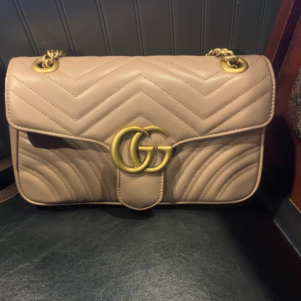 5291859daec5 Gucci Marmont Dusty Pink Lambskin Leather Shoulder Bag - Tradesy