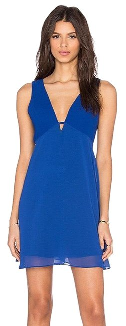 Item - Blue Electric V Short Cocktail Dress Size 10 (M)