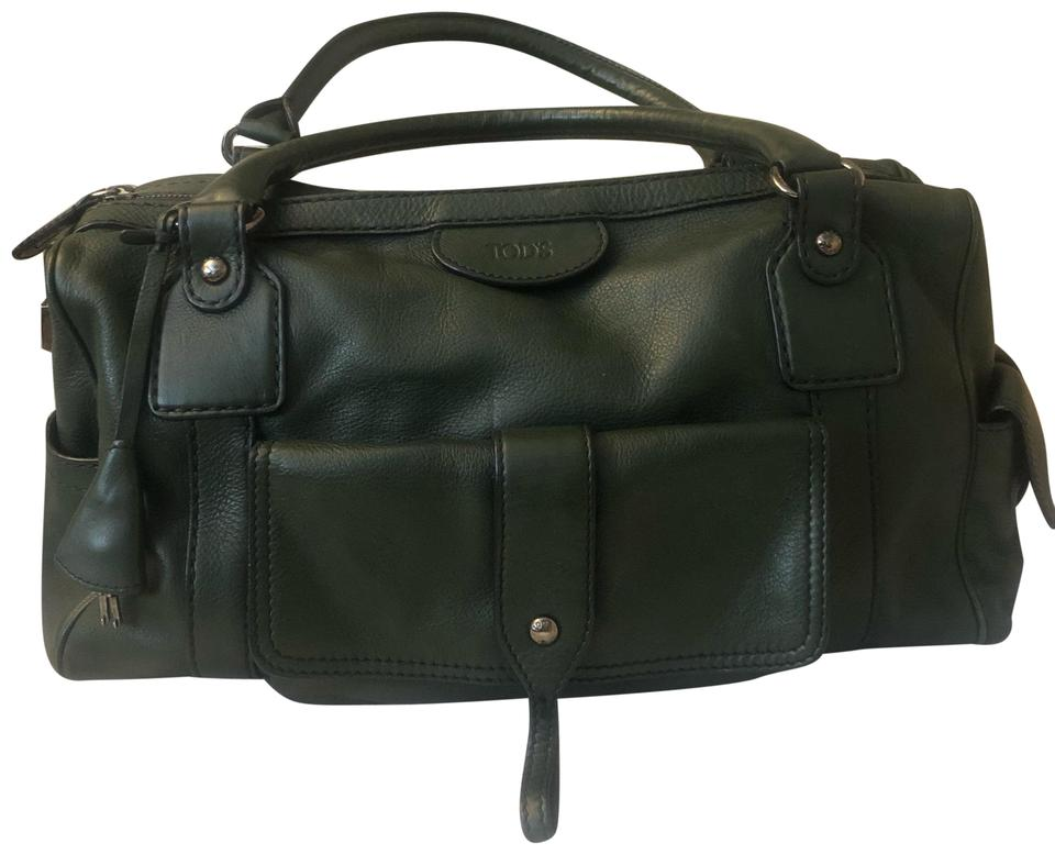 3960501c609 Tod's Green Leather Weekend/Travel Bag - Tradesy