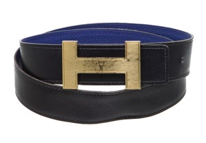 Hermès Reversible Navy Blue and Blue Electrique Constance