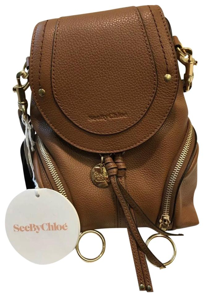9dc8652e See by Chloé Olga Small Caramello Brown Leather Backpack