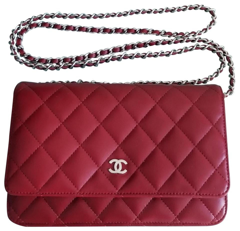 31102b3aab57 Chanel Wallet on Chain Crossbody Red Lambskin Leather Shoulder Bag ...