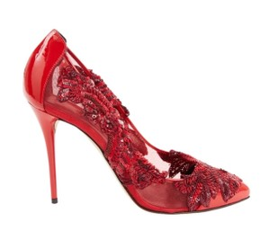 Oscar de la Renta red Pumps