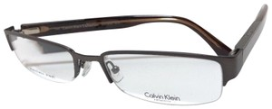 Calvin Klein New CALVIN KLEIN Collection Eyeglasses CK7372 015 Brown Semi Rimless