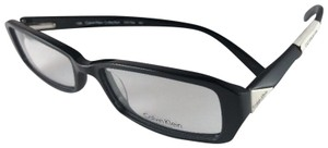 Calvin Klein New CALVIN KLEIN Collection Eyeglasses CK7766 001 Black & Silver Frame
