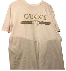 Gucci T Shirt White with red and green logo