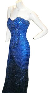 Just Female Vintage Bustier Sequin Egyptian Ball Gown Dress
