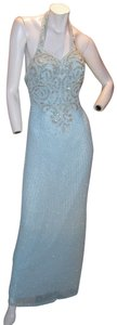 Just Female Egyptian Vintage Sequin Halter Ball Gown Dress