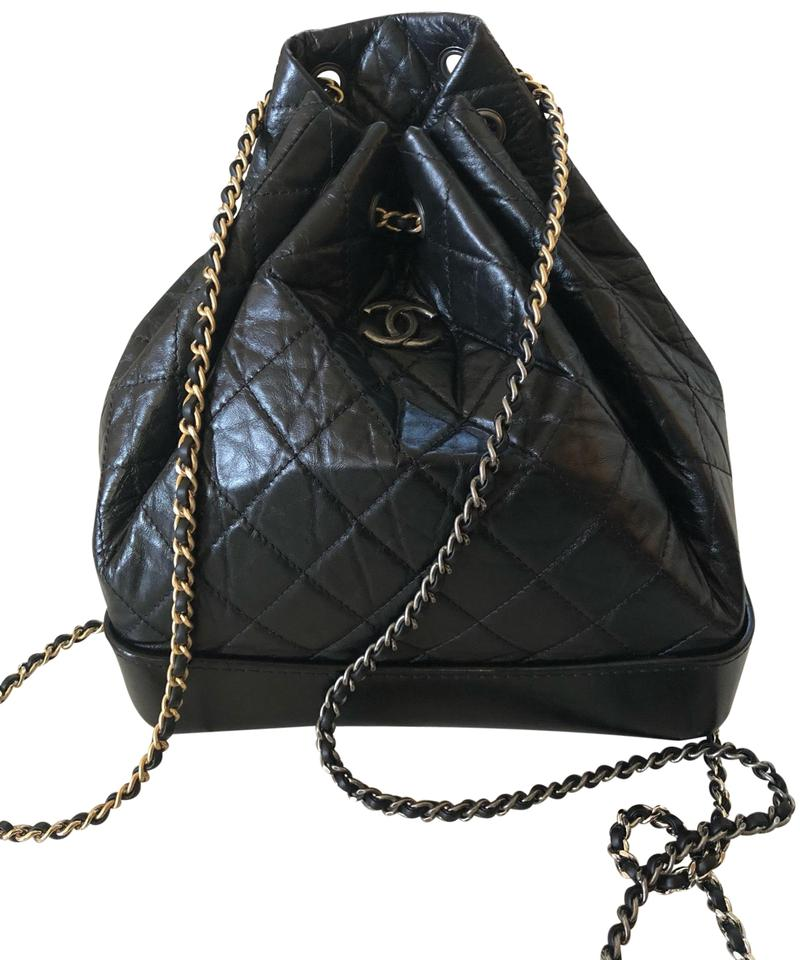 0db80e23ca34 Chanel Gabrielle Medium with Silver and Gold Hardware Black Aged ...