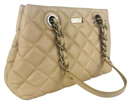 Kate Spade Ny Quilted Purse Handbag Tan