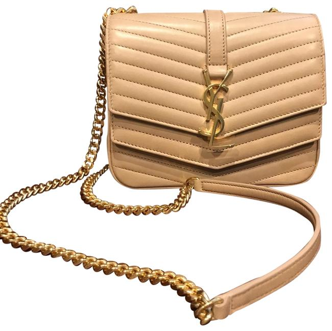 Item - Small In Chevron-quilted Leather Beige Cross Body Bag