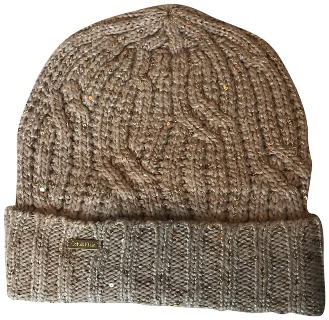 Item - Tan and Gold Beanie Hat