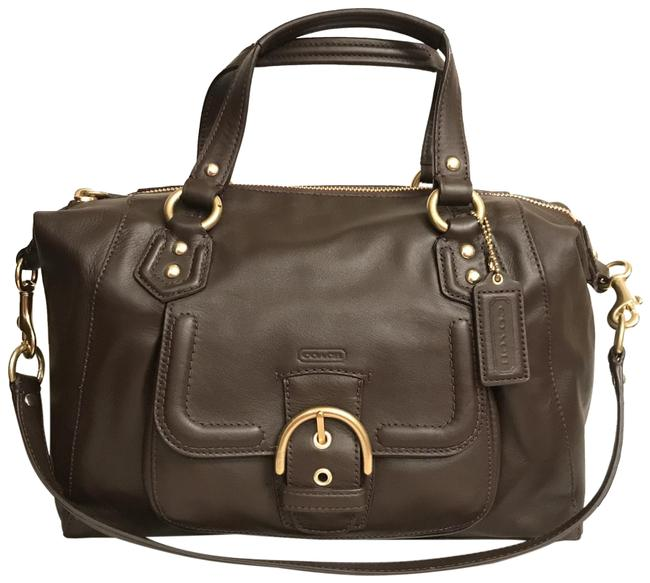 Item - Campbell New F24690 Brown Mahogany Gold Leather Satchel