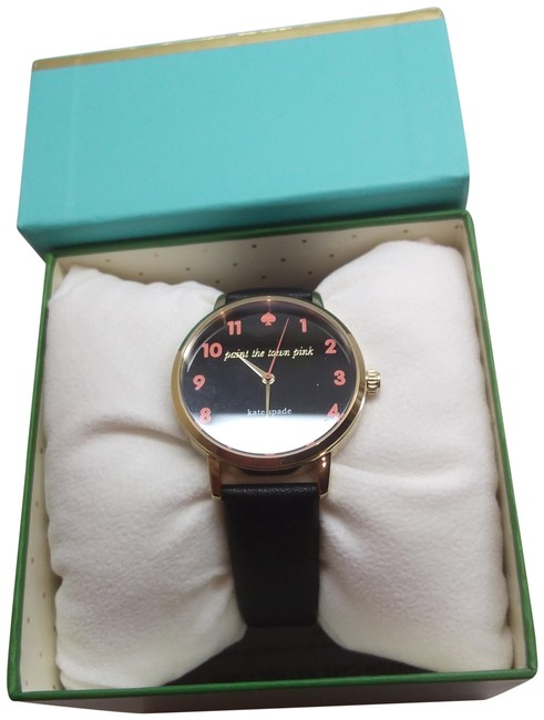 "Kate Spade Hot Pink New Black ""Paint The Town Watch Kate Spade Hot Pink New Black ""Paint The Town Watch Image 1"