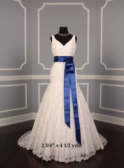 Deep Blue Ribbon Sash