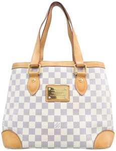 f1d446f2de7e Louis Vuitton Hampstead Damier Azur Pm White Canvas Shoulder Bag ...