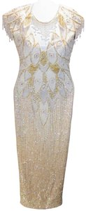 Just Female Vintage Embellished Pagent Ball Gown Prom Dress
