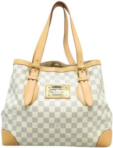 f64ca34d5d73 Louis Vuitton Hampstead Mm Canvas Tote in White. Louis Vuitton Hampstead Mm Damier  Azur ...