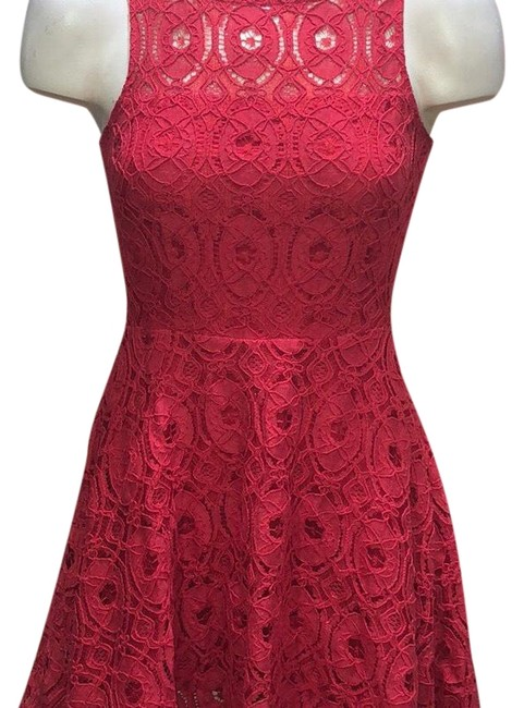 Item - Red Lace Short Night Out Dress Size 0 (XS)