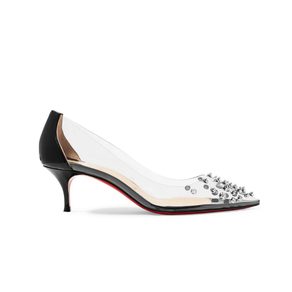 best sneakers 38342 040bf Christian Louboutin Collaclou Spiked Clear Pvc Patent Leather Pumps Size US  6 Regular (M, B)