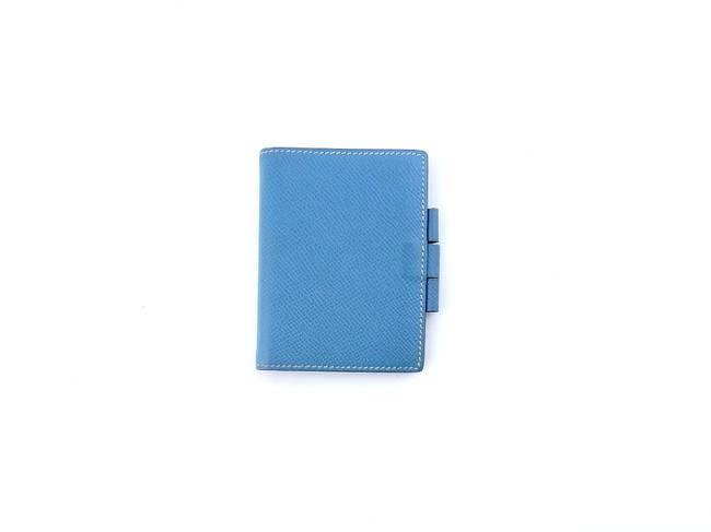 Item - Blue Mini Agenda Bifold Wallet