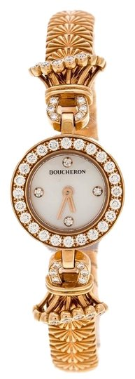 Preload https://img-static.tradesy.com/item/25040689/boucheron-white-mother-of-pearl-diamond-and-18k-rosegold-ma-jolie-women-swristwatch-18mm-watch-0-1-540-540.jpg