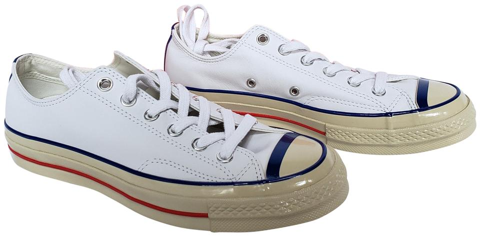 0c686898ac3c Converse Chuck Taylor All Star 70 Ox Leather Sneakers White Athletic Image  0 ...