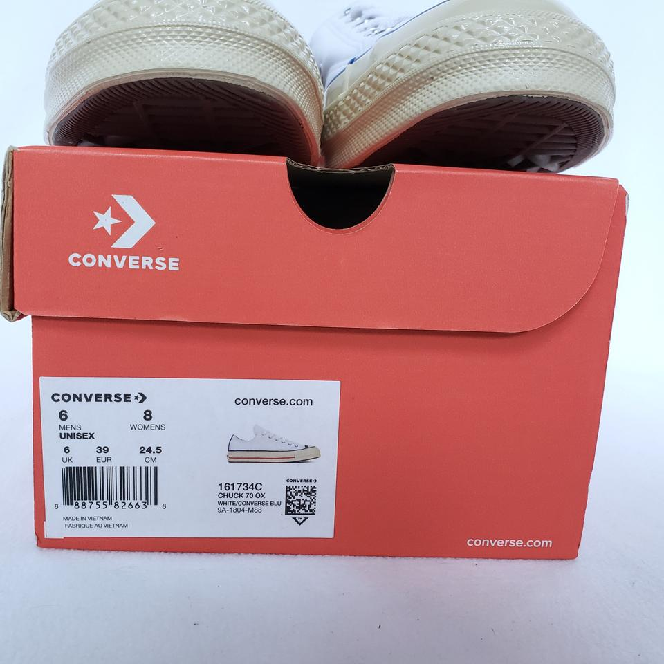 05943ab2d920 Converse Chuck Taylor All Star 70 Ox Leather Sneakers White Athletic Image 6.  1234567
