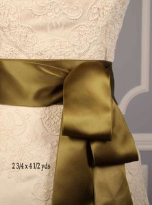 Avocado Green Ribbon Sash