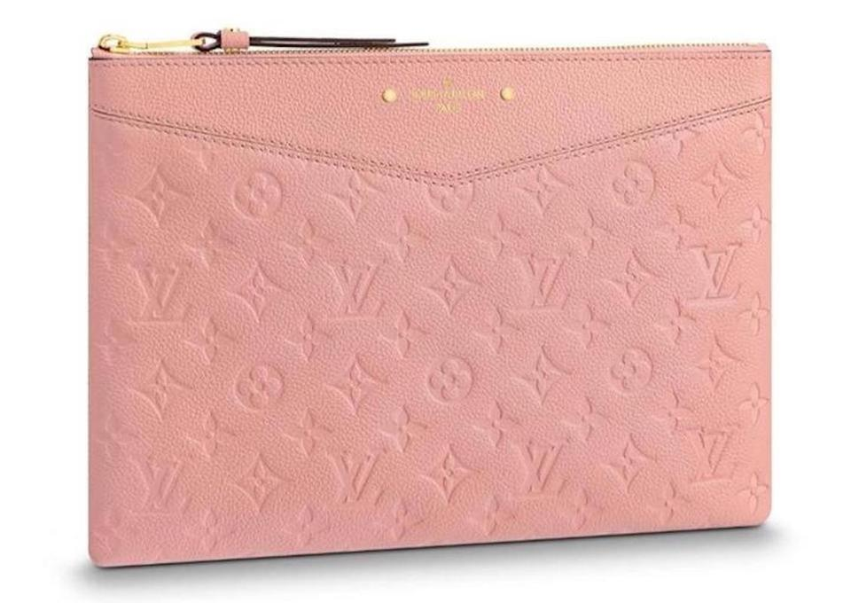 4bc0eacce2d Louis Vuitton New Zip Pouch Rare Pink Leather Clutch