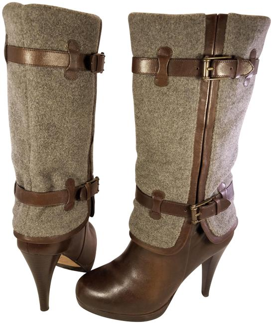 Item - Brown and Gray Mint Air Technology Woman Wool Leather Boots/Booties Size US 8 Regular (M, B)