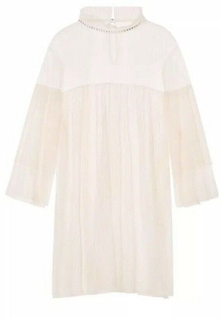 Item - Dream Angels Sheer Tulle Pleated Dress / Tunic Ivory Top