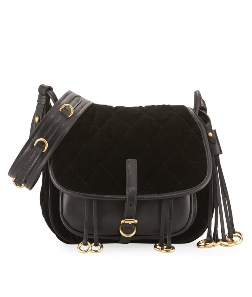 23f14cd7002b Prada Corsaire Velvet and City Calf Black Cross Body Bag - Tradesy
