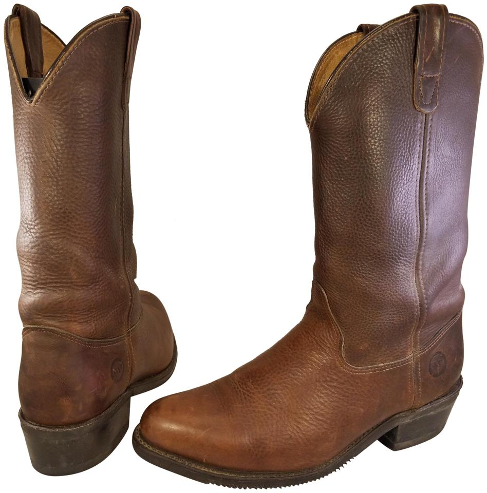 11354831199 Double-H Boots Brown Man Western Cowboy 150 Plus Abrasion Oil/Chemical D  Boots/Booties Size US 11 Regular (M, B)