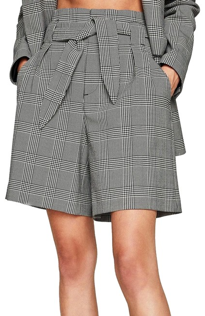 Item - Black/White Checked High Waisted with Bow Shorts Size 12 (L, 32, 33)