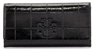 Tory Burch flap continental quilted patent leather wallet