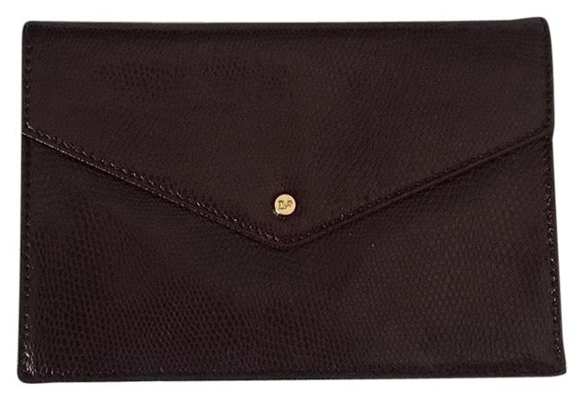 Item - Dvf Envelope Black Cherry Leather Clutch